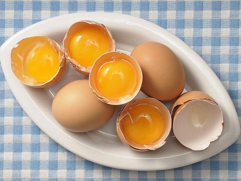 Пазл Собирать пазлы онлайн - Яйца на блюде