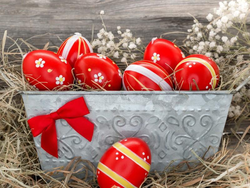 Пазл Собирать пазлы онлайн - Яйца на Пасху