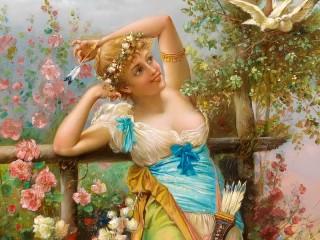 Собирать пазл Юная богиня онлайн