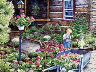 Собирать пазл Юный садовник онлайн