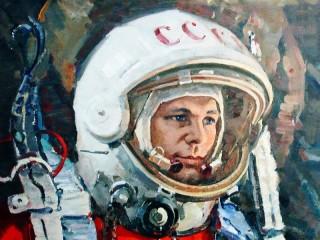 Собирать пазл Юрий Гагарин  онлайн