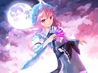 Собирать пазл Yuyuko Saigyouji онлайн