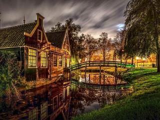 Собирать пазл Заандам Нидерланды онлайн