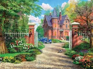 Собирать пазл Загородный дом онлайн