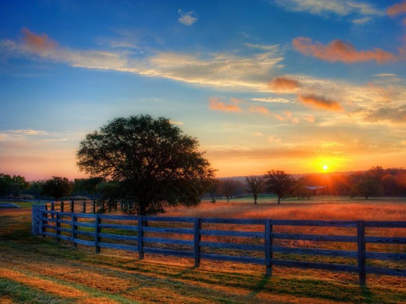 Пазл Собирать пазлы онлайн - Закат на ранчо
