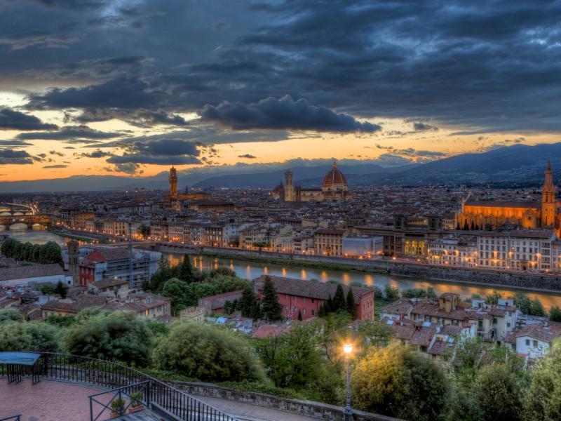 Пазл Собирать пазлы онлайн - Закат в Италии