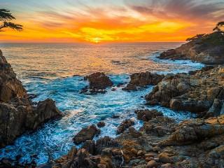 Собирать пазл Закат в Калифорнии онлайн