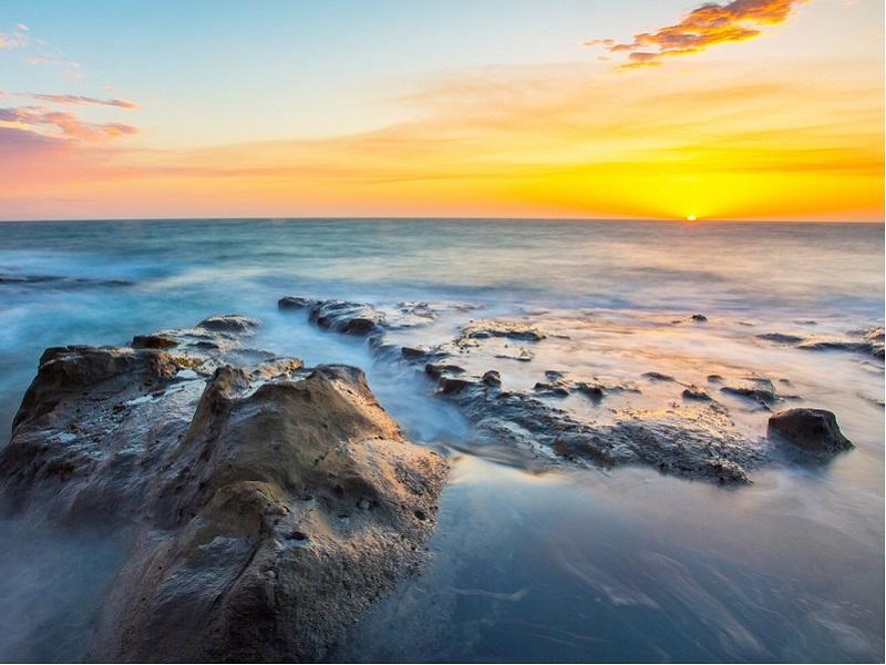Пазл Собирать пазлы онлайн - Закат в океане