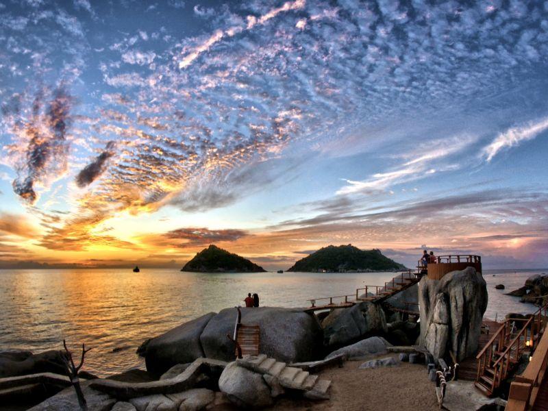 Пазл Собирать пазлы онлайн - Закат в Таиланде