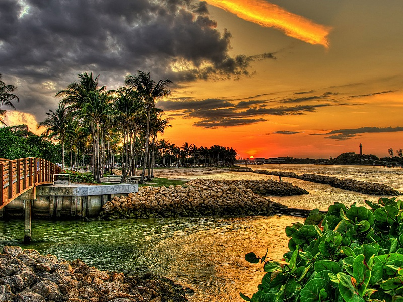 Пазл Собирать пазлы онлайн - Закат во Флориде