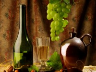 Собирать пазл Закуска и вино онлайн