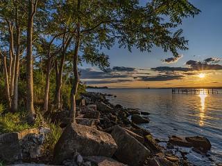Собирать пазл Залив в США онлайн