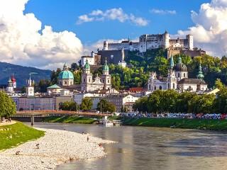 Собирать пазл Зальцбург Австрия онлайн
