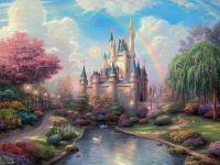 Собирать пазл Замок  онлайн