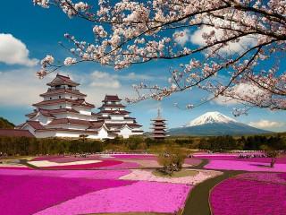 Собирать пазл Замок Аидзувакамацу онлайн