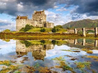 Собирать пазл Замок Эйлен-Донан онлайн