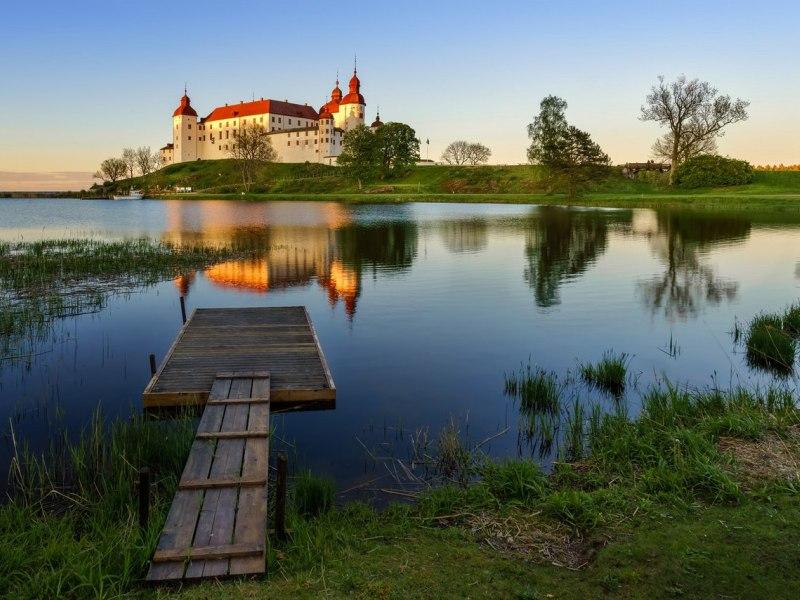 Пазл Собирать пазлы онлайн - Замок Лекё. Швеция