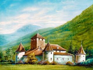 Собирать пазл Замок Мареч. Италия онлайн