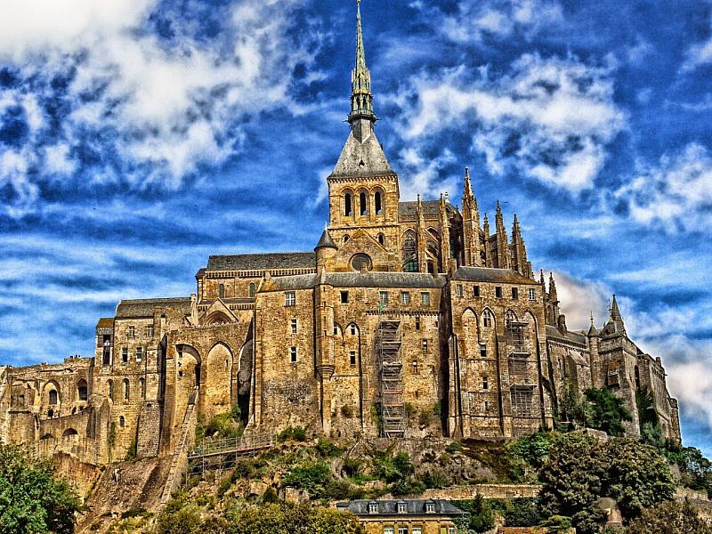 Пазл Собирать пазлы онлайн - Замок Мон-Сен-Мишель