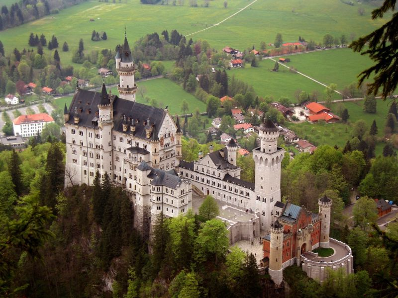 Пазл Собирать пазлы онлайн - Замок Нойшванштайн