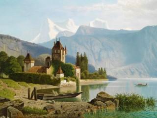 Собирать пазл Замок Оберхофен онлайн