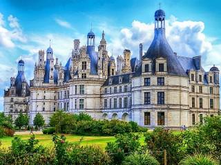 Собирать пазл Замок Шамбор онлайн