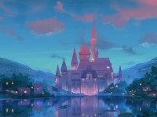 Собирать пазл Замок у озера онлайн