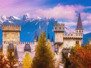 Собирать пазл Замок в Австрии онлайн