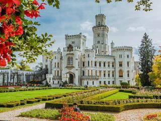Собирать пазл Замок в Чехии онлайн