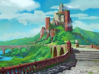 Собирать пазл Замок в облаках онлайн