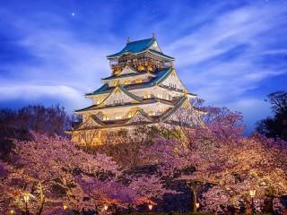 Собирать пазл Замок в Осаке онлайн