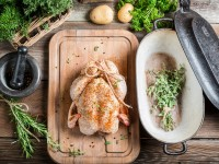 Собирать пазл Запекаем курицу онлайн
