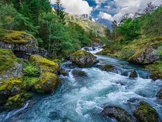 Собирать пазл Заповедник Норвегии онлайн