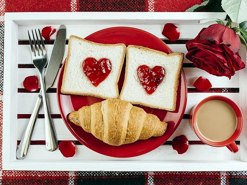 Открытка завтрак для любимого, прикольные