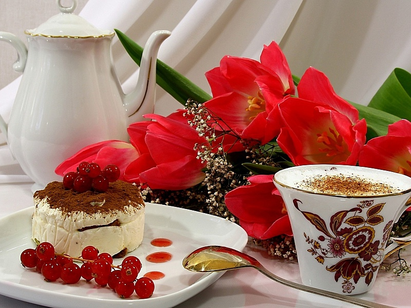 Пазл Собирать пазлы онлайн - Завтрак для любимой