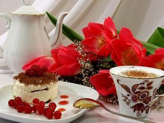 Собирать пазл Завтрак для любимой онлайн