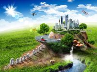 Собирать пазл Зеленый город онлайн