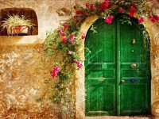 Собирать пазл Зелёная дверь онлайн