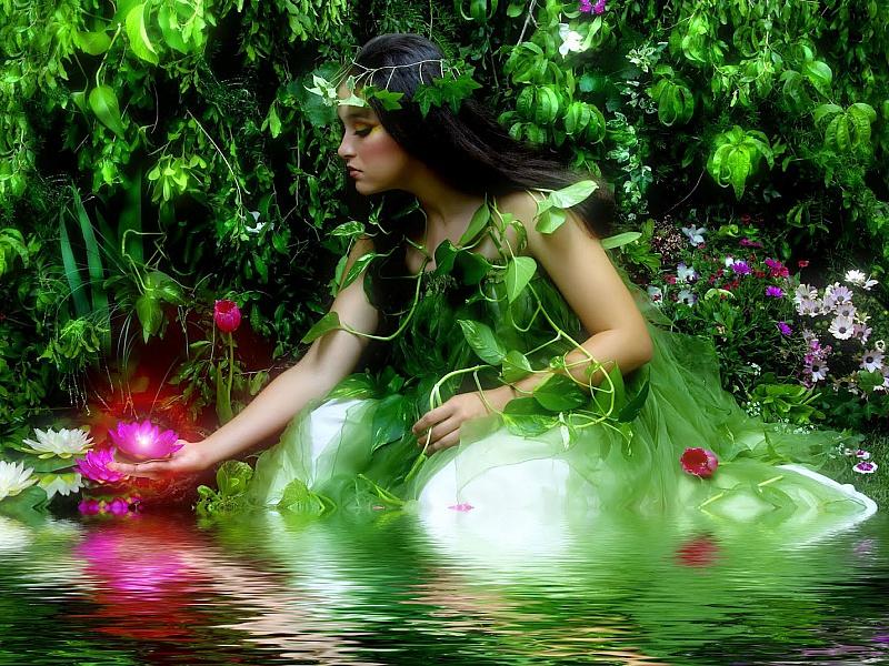 Пазл Собирать пазлы онлайн - Зелёная фея