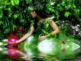 Собирать пазл Зелёная фея онлайн