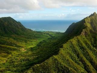 Собирать пазл Зелёные горы онлайн