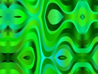 Собирать пазл Зелёные волны онлайн