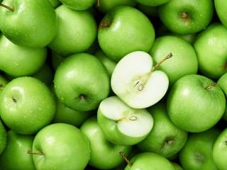 Собирать пазл Зелёные яблоки онлайн