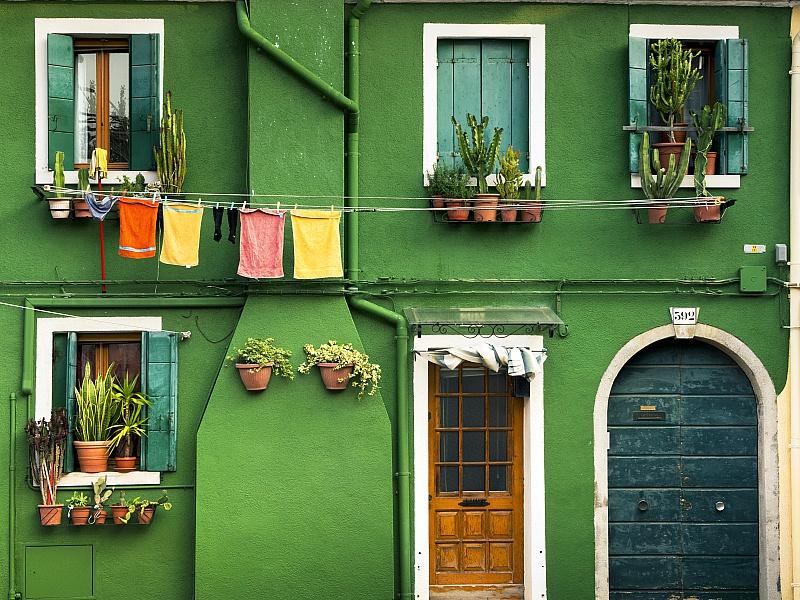 Пазл Собирать пазлы онлайн - Зелёный дом