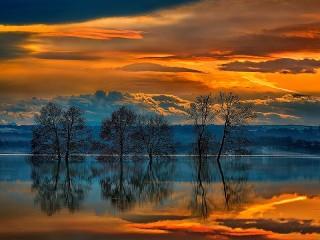 Собирать пазл Зеркальное отражение онлайн