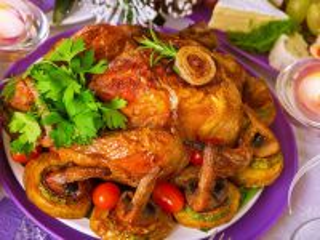 Собирать пазл Жареная курица онлайн