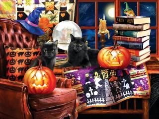 Собирать пазл Ждем Хэллоуин онлайн