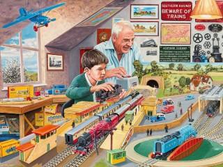 Собирать пазл Железная дорога 1 онлайн
