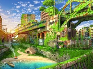 Собирать пазл Железнодорожный мост онлайн