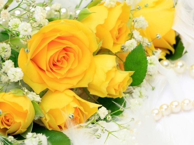 Пазл Собирать пазлы онлайн - Желтые розы